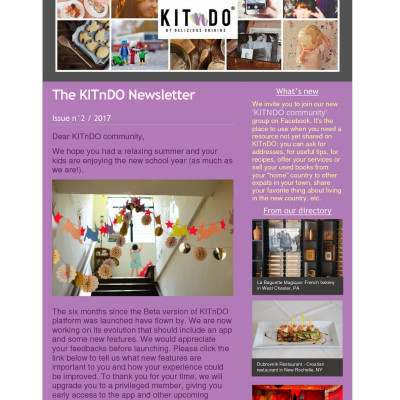 KITnDO newsletter Issue n°2 - 2017 KITnDO newsletter Issue n°2 - 2017 KITnDO newsletter Issue n°2 - 2017 KITnDO newsletter Issue n°2 - 2017