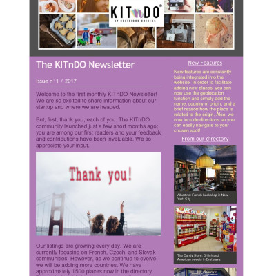KITnDO Newsletter Issue n°1 - 2017 KITnDO Newsletter Issue n°1 - 2017 KITnDO Newsletter Issue n°1 - 2017 KITnDO Newsletter Issue n°1 - 2017
