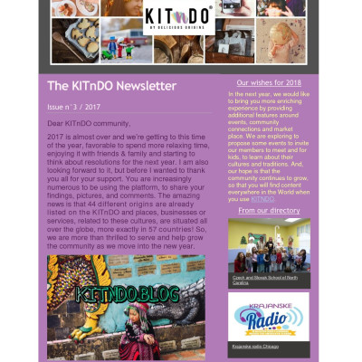 KITnDO newsletter Issue n°3 - 2017 KITnDO newsletter Issue n°3 - 2017 KITnDO newsletter Issue n°3 - 2017 KITnDO newsletter Issue n°3 - 2017